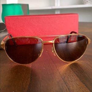 Cartier aviator Santos dumont sunglasses